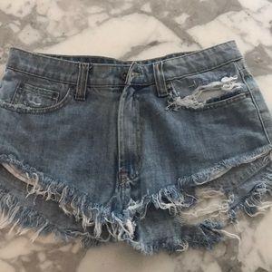 Carmar denim jean shorts mini 27